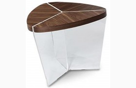 Trance Sector Brown Triangular End Table