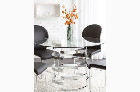 Tayside Glass Top Round Dining Table