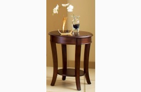 Troy Medium Brown Cherry End Table