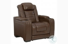 Backtrack Chocolate Power Recliner With Power Headrest