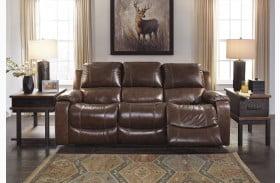 Rackingburg Mahogany Power Reclining Sofa