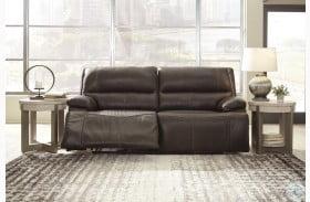 Ricmen Walnut Power Reclining Sofa