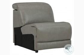 Correze Gray Leather Armless Chair