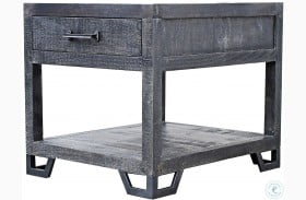 Veracruz Rustic Charcoal End Table