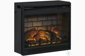 Black Infrared Fireplace Insert