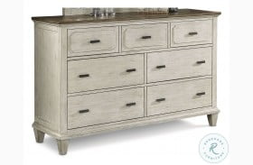 Newport Off White And Rustic Brown Dresser
