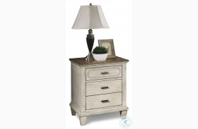 Newport Off White And Rustic Brown Nightstand