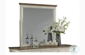 Newport Off White And Rustic Brown Mirror