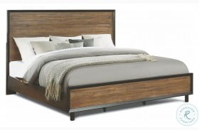 Alpine Walnut and Rustic Panel Bed
