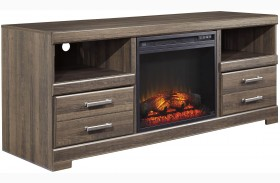 Frantin LG TV Stand With Glass/Stone Fireplace Insert