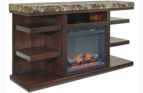 Kraleene LG TV Stand With Fireplace Insert