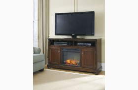 Porter LG TV Stand With Fireplace Insert