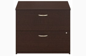 Series C Mocha Cherry 36 Inch 2-Drawer Lateral File