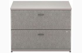 Series A Pewter 36 Inch 2-Drawer Lateral File