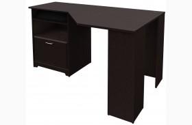 Cabot Espresso Oak Corner Desk