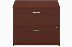 Series C Mahogany 36 Inch 2-Drawer Lateral File