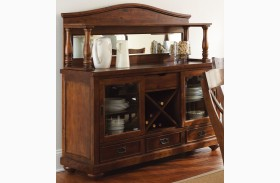 Wyndham Medium Cherry Buffet with Hutch
