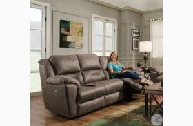 Pandora Latte Power Headrest Reclining Sofa