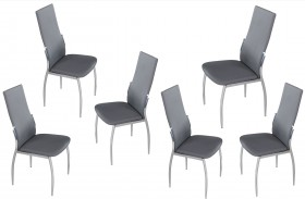 Y-3 Grey Dining Chair Set of 6