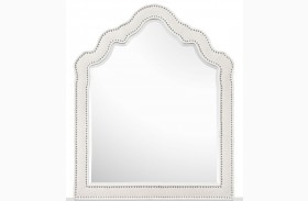 Gabrielle Shaped Upholstered Mirror