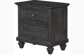 Calistoga Weathered Charcoal Drawer Nightstand