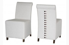 Zoe Taupe Linen Dining Chair Set of 2