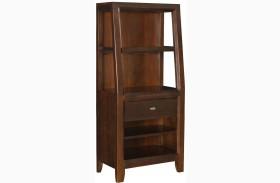 Tribecca Root Beer Bookcase Nightstand