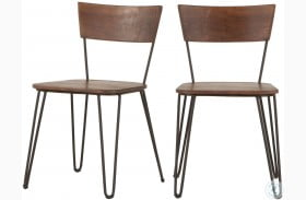 Grandby Walnut Dining Chair Set of 2