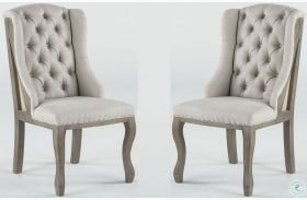 Charles Off White Tufted Linen Deconstructed Chair
