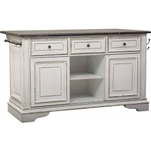 Magnolia Manor Antique White Kitchen Island