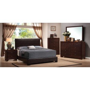 Maddison Sleigh Upholstered Bedroom Set From Coaster