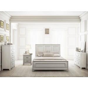 Montauk Weathered White Panel Bedroom Set