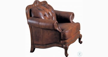 Victoria Tri Tone Leather Chair