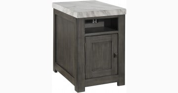 Vineburg Gray and White End Table