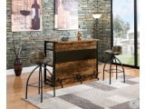 130071 Antique Nutmeg Bar Room Set