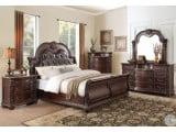 Cavalier Dark Cherry Sleigh Bedroom Set