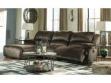 Clonmel Chocolate Press Back Chaise LAF Sectional