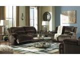 Clonmel Chocolate 2 Seat Power Reclining Living Room Set