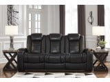 Party Time Midnight Power Reclining Living Room Set with Adjustable Headrest