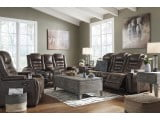 Game Zone Bark Power Reclining Living Room Set with Adjustable Headrest