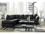 Darcy Black LAF Sectional