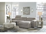 Mabton Gray Power Reclining RAF Sectional
