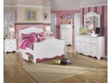 Exquisite White Youth Panel Double Underbed Storage Bedroom Set