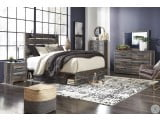 Drystan Multi Panel Bedroom Set with One Side Storage