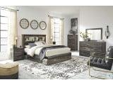 Drystan Multi Bookcase Platform Bedroom Set with Double Underbed Storage