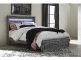 Baystorm Gray Queen Storage Platform Bed