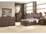 Juararo Dark Brown Youth Panel Bedroom Set