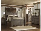 Juararo Dark Brown Poster Bedroom Set