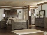 Juararo Dark Brown Poster Single Underbed Storage Bedroom Set