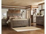 Juararo Dark brown Queen Poster Single Underbed Storage Bed